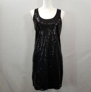 BEBE Women's Little Black Dress Sequins Medium